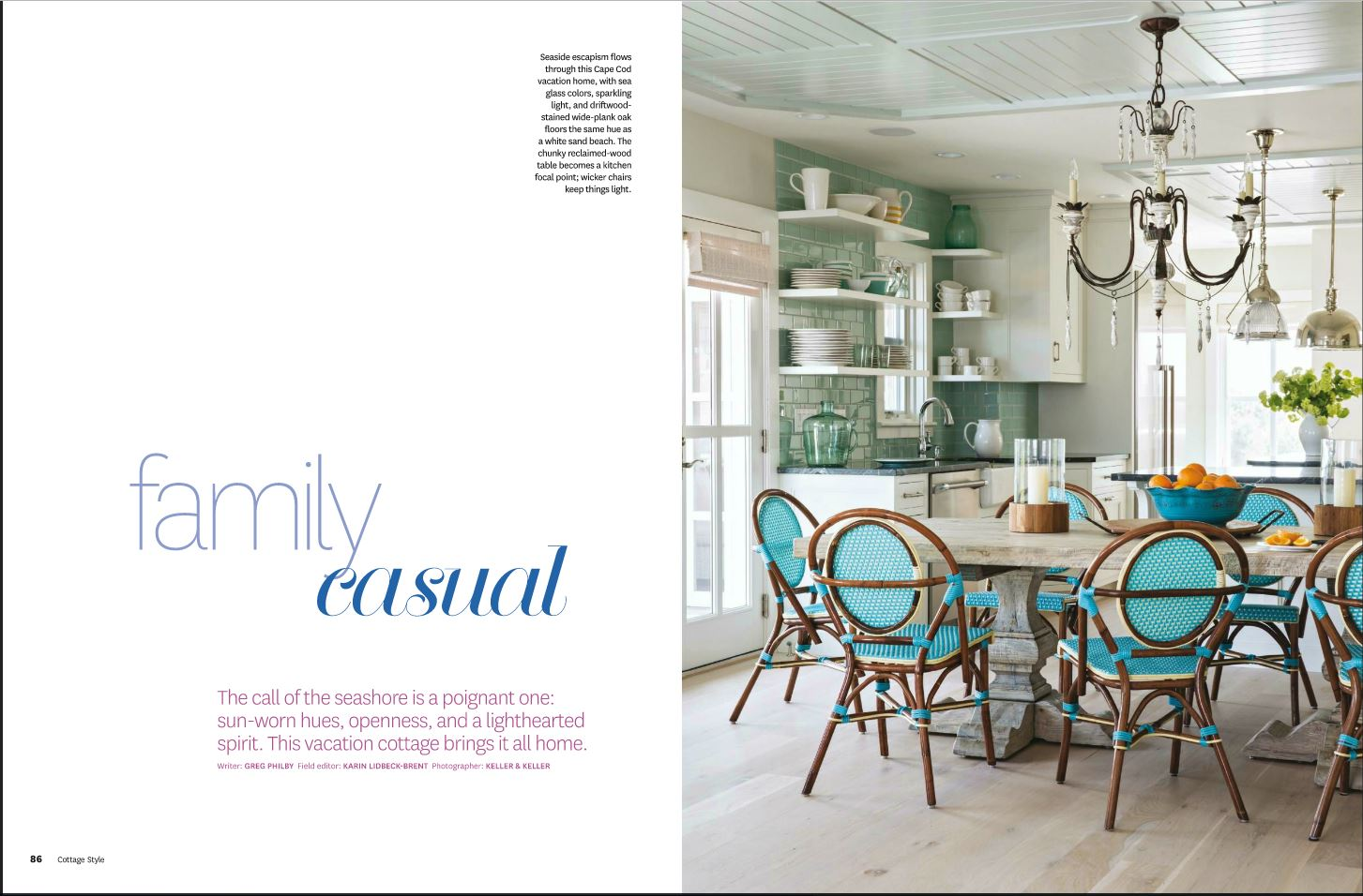 Charming Cape kitchen featured in Cottage Style