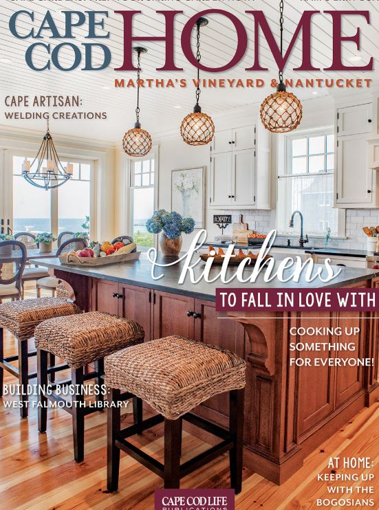 Faneuil Kitchen Cabinet featured in Cape Cod Home